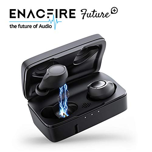 ENACFIRE Future Plus Bluetooth Kopfhörer, Bluetooth 5.0 in Ear Sport Kabellose Ohrhörer, Headset HD-Klangqualität 104h Spielzeit Kopfhörer mit eingebautem Mikrofon, 2600mAh-Ladebox, IPX5 Bluetooth Sport-kopfhörer