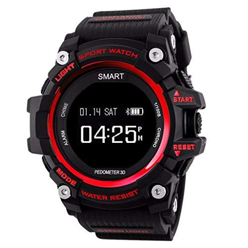 LRWEY Fitness Smart Watch, IP68 Wasserdicht Sport Fitness Herzfrequenz Tracker Blutdruck Schrittzähler Smart Watch, für iOS Android