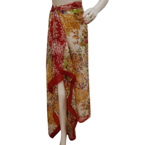 "Cover-Up Sarong New Style Fashion Stole Rectangle Summer Beach Wrap 70 ""x 40"" pouces Pêche"