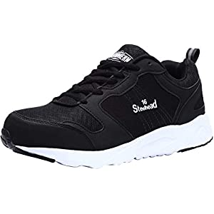 41EOBh IJ9L. SS300  - LARNMERN Zapatillas de Seguridad Hombres Mujer LM180105 SB Zapatos de Trabajo con Punta de Acero Ultra Liviano Suave y cómodo Transpirable