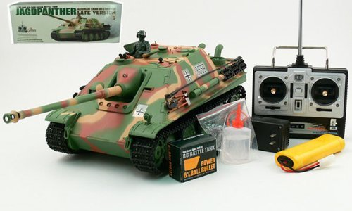 1:16 German JAGDPanther Late Version Tank Destroyer Radio Controlled RC Airsoft Tank w/Smoke and Sound by Heng Long (Rc Airsoft Tank)