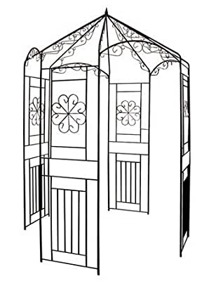 """Pavillon Rosenbogen """"Nizza"""", Rosenpavillon, Rankhilfe, Pergola, für alle Rankpflanzen, Metall von Intergarden - Du und dein Garten"""