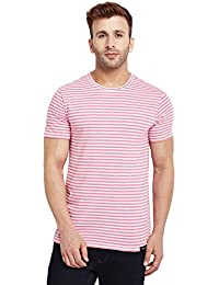 LE BOURGEOIS Men's Stripe Cotton T-Shirt