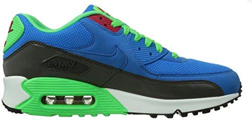 Nike Air Max 90 Essential, Scarpe da Ginnastica Uomo Blu (Pht Bl/Pht Bl Mdm Ash Psn Grn)