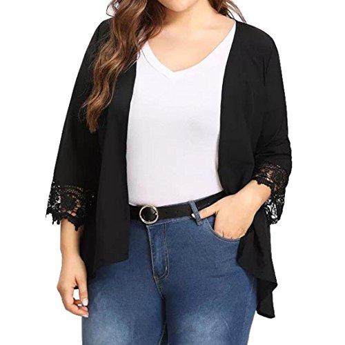 ❤️ Rebeca para Mujer Talla Grande,Kimono Ligero Causal Ligero Causal de Encaje Abierto Absolute