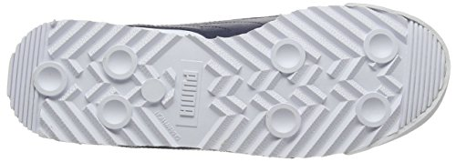 Puma Roma Basic, Sneakers Basses Mixte Enfant Blanc (White-new Navy 12)