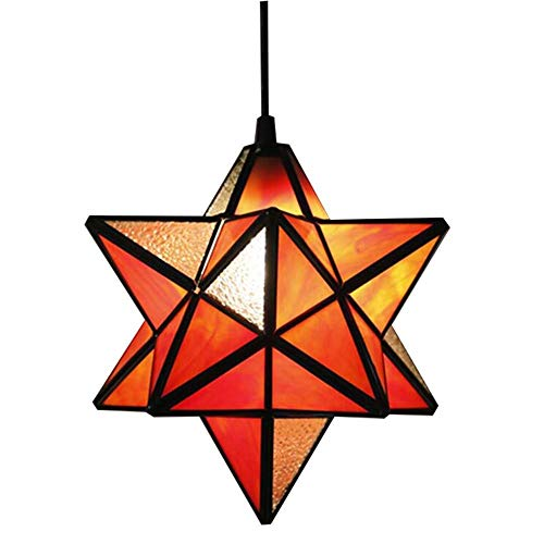 Deckenbeleuchtung Deckenleuchte Pendelleuchten Chandelier Retro Creativity Star Glass Pendant Lights Living Room, Bedroom, Children'S Room,C (Pendant Light Star)