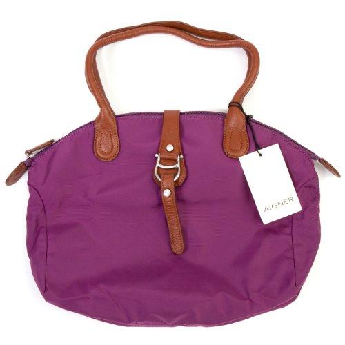 AIGNER Frauen Handtasche Shopper MAUVE L in Lila Größe L