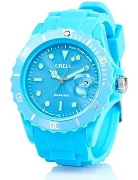 Crell nc7263–944–Armbanduhr, Armband Silikon Farbe blau