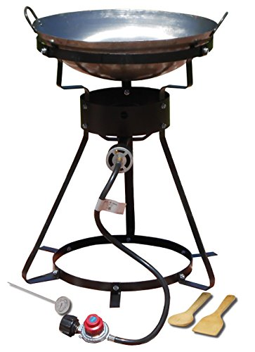 2 Wok-brenner (Sportsman's Supply, Inc. King Kooker #24WC-24 Outdoor Cooker w/Steel Wok-2 Utensils)