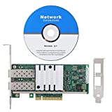 Bewinner Computernetzwerkkarten, X520-DA2 82599es PCI-E X8 2-Port-SFP-Gigabit-LAN-Karte NIC-Netzwerkkarte für Intel 10-Gbit/s-Dual-Port-Optical-Netzwerkkarte