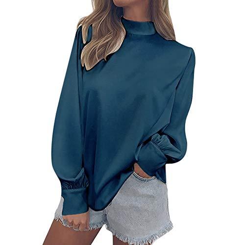 OSYARD Damen Oberseiten Pullover Sweatshirt, Frauen Mode Tunika Hemd Kleidung Chiffon Einfarbig...