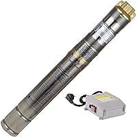 """Agora-Tec® AT- 3"""" Brunnenpumpe 370W-screw 15 m Kabel sandresistente Tiefbrunnenpumpe mit max: 7,5 bar und 1800l/H"""