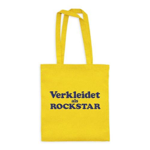 ltasche Verkleidet als Rockstar 20drpt15-bwt00398-32 Textil yellow / Motiv violett - 42 x 38 cm (Rockstar Dress)