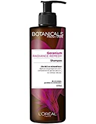 L'Oréal Paris Botanicals géranium Radiance Remedy Shampooing X 400 ml Cheveux ternes ou colorés
