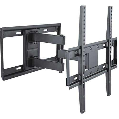 deleyCON Soporte universal de pared para TV 32'-55' pulgadas (81-140cm) inclinable y rotatorio - 35Kg - hasta VESA 400x400 Plasma LCD LED OLED TFT CURVED