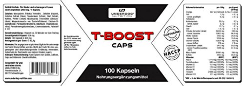 T-Boost by Underdog Nutrition Muscle Building Pre-Workout Booster Capsules | High Dose 100 & Thick Silk | Tribulus Terrestris + Maca + Pepper Extract and Caffeine