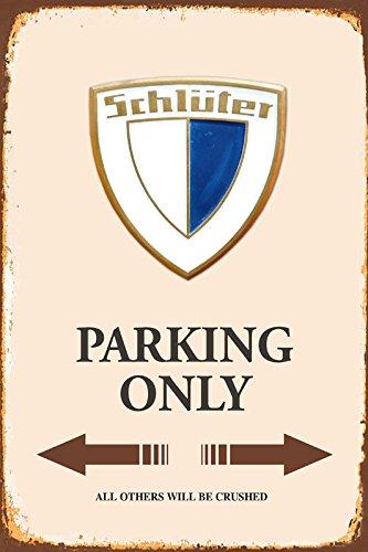 Schlüter Traktor Parking only blechschild