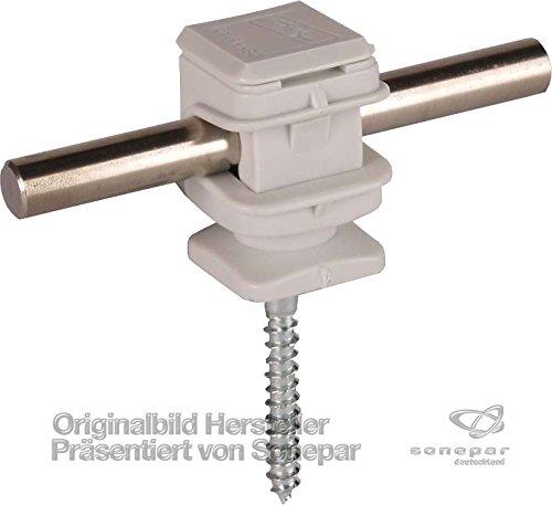 Preisvergleich Produktbild Dehn 204006–Ordentlich Snap/Schraube Kunststoff grau