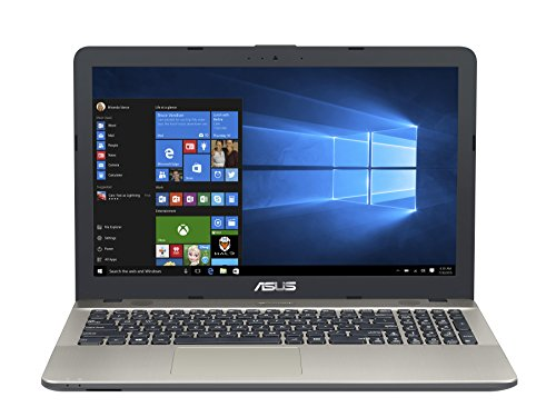 Asus VivoBook Notebook, 15.6' HD LED, Processore Intel Celeron N3350, RAM 4 GB, Hard Disk 500GB, Windows 10, Argento [Layout Italiano]