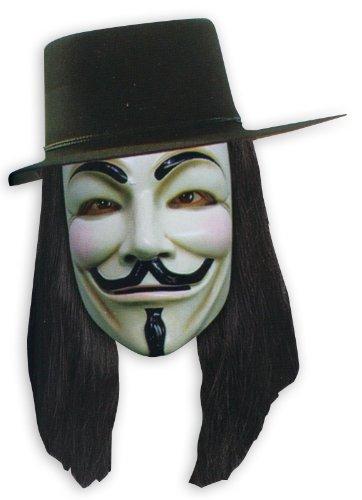 V for Vendetta Set Maske, Hut und Perücke - (Vendetta Perücke)