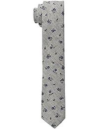 Tommy Hilfiger Men's Fernando Flower Slim Tie, Brown, One Size