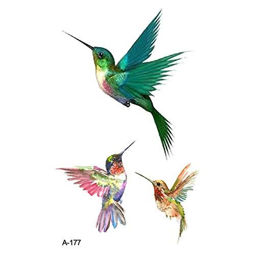 Yangll Niedlichen Vogel Tier Gefälschte Tätowierung Wasserdicht Temporäre Arm Tatoo Aufkleber Body Art Tattoos Für Männer Frauen 9,8X6Cm8Ps
