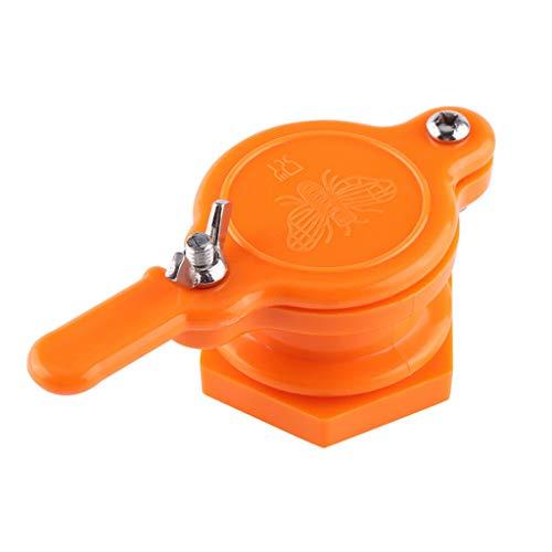 960a102d7a2e jgashf Miel Outil Valve en Nylon Bee Honey Tap Porte Extractor Outil  extracteur Apiculture Mise en Bouteille Équipement Apiculture Mise (1PC,  Orange)