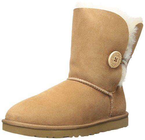 UGG Australia Damen Bailey Button Ugg Boots (Braun) -