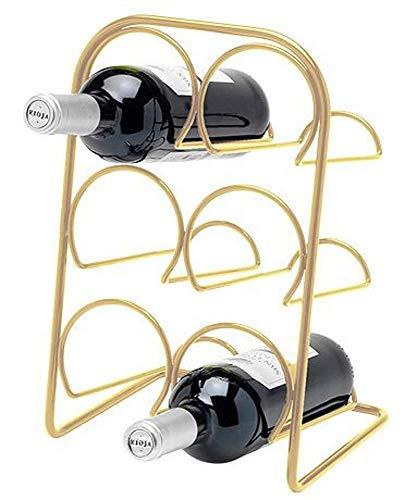 Hahn Pisa Weinregal für 6 Flaschen, freistehend, goldfarben