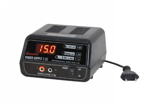 Graupner 6458 - Fuente de alimentación conmutada ajustable 5- 15 V/0- 15...