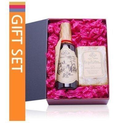 ROYAL NATURE, Organic Rose Water 100ml + Mung Bean Soap100g Gift Set (cosmetics, day care, moisturizing)