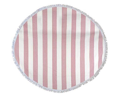 WYJW Strand-Sommer-Bikini-Tapisserie-Wand 150cm korallenrotes rundes türkisches Tuch -