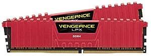 Corsair CMK16GX4M2A2133C13R Vengeance LPX Kit di Memoria per Desktop a Elevate Prestazioni da 16 GB, 2 x 8 GB, DDR4, 2133 MHz, C13, con Supporto XMP 2.0, Rosso