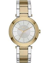 DKNY  NY2334 - Reloj de cuarzo con correa de acero inoxidable para mujer, color rosa