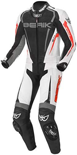 Berik Race-X 2-Teiler Motorrad Lederkombi Schwarz/Grau/Rot 52