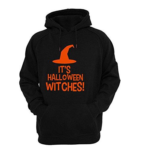 FORH Mode Männer Halloween lang Ärmel drucken Schreiben beiläufig Baumwolle Hoodie mit Kapuze Sweatshirt Tops Jacke Mantel (M, Schwarz A)