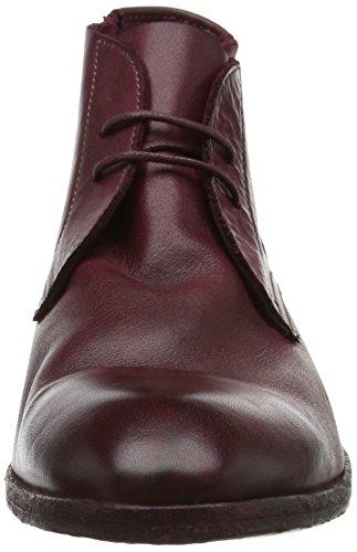 Hudson London Herren Osbourne Drum Dye Bordo Chukka Boots Rot (Bordo)