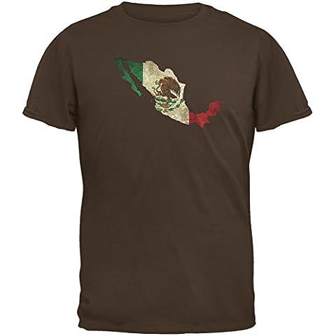 Cinco de Mayo–Mexico silueta marrón adulto camiseta