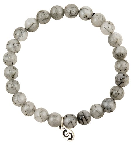apoccas-semi-precious-crystal-bracelet-agni-tourmaline-quartz-grey-8-mm-diameter-sterling-silver-tag