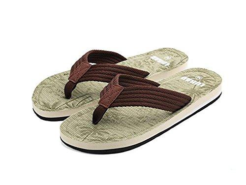 ALUK- Sandales dété - Décontracté Antidérapant Hommes confortables Chaussons résistant à lusure Chaussures de plage ( Couleur : Vert , taille : 41 ) Vert