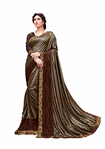 Gaurangi Creation Brown Glamorous Party Wear Sarees for Women Latest Design (DRS1007...