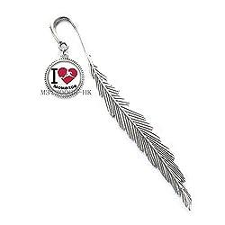 """Lesezeichen, Aufschrift""""I Love Badminton"""", handgefertigt, Geschenk für Coach, Geburtstag, Geschenk"""