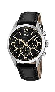 Lotus Watches Reloj Cronógrafo para Hombre de Cuarzo con Correa en Cuero 18155/8