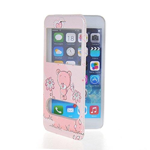 MOONCASE Coque en Cuir Housse de Protection Étui à rabat Case pour Apple iPhone 6 Plus A18185