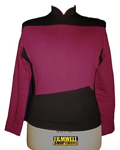 Star Trek Next Generation Uniform - Oberteil super deluxe Baumwolle (Small, rot)
