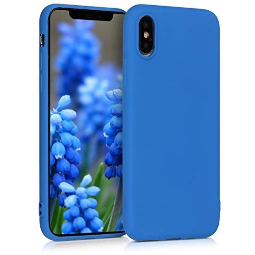 kwmobile Apple iPhone XS Hülle - Handyhülle für Apple iPhone XS - Handy Case in Neon Blau -