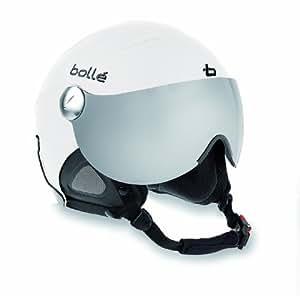Bollé 30592 Casque Slide avec 1 visière Lemon et 1 visière Silver Gun, Taille XS 54 cm Blanc