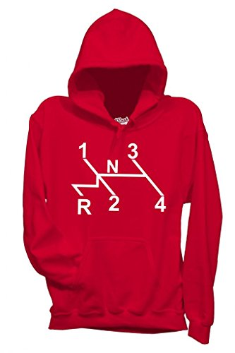 MUSH Sweatshirt Kapuzen Vw Käfer - Lustig by Dress Your Style - Herren-XL Rot
