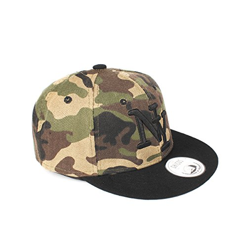 JOHNNY CHICOS NY New York süße Kindercap Kinder Cap Snapback 46-56cm  Kopfumfang (One Size, Camouflage Schwarz) 60aa8f2a5d